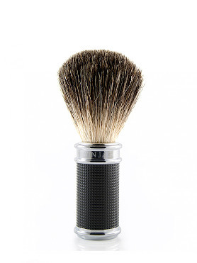 Edwin Jagger Pure Badger Brush Cylinder Chromed Plated small image